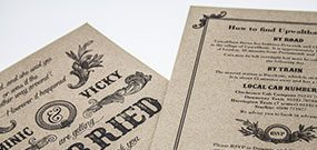 wedding invite portfolio