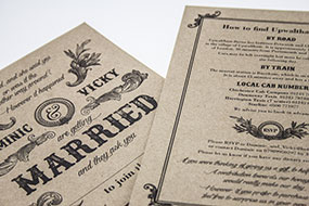 wedding invite portfolio
