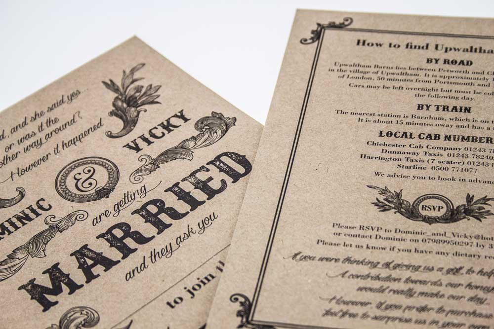 besoke wedding invite stationery