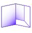 folder with L shaped pocket