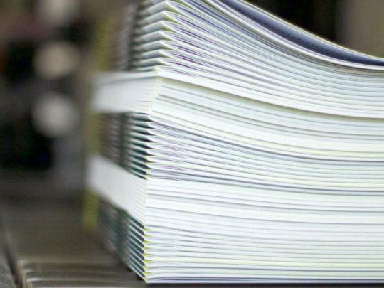 Saddle Stitch books and magazines